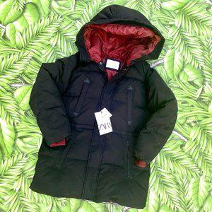 NWT Zara Boys Black Down Jacket